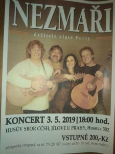 Koncert skupiny Nezmaři Jílové u Prahy