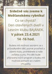 Den otevřených dveří v lesním klubu Bajánek